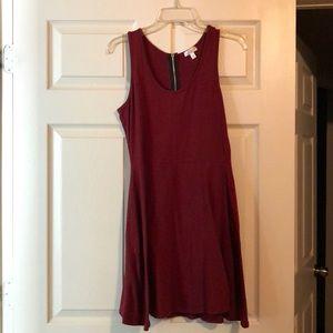 Maroon Charming Charlie sleeveless dress